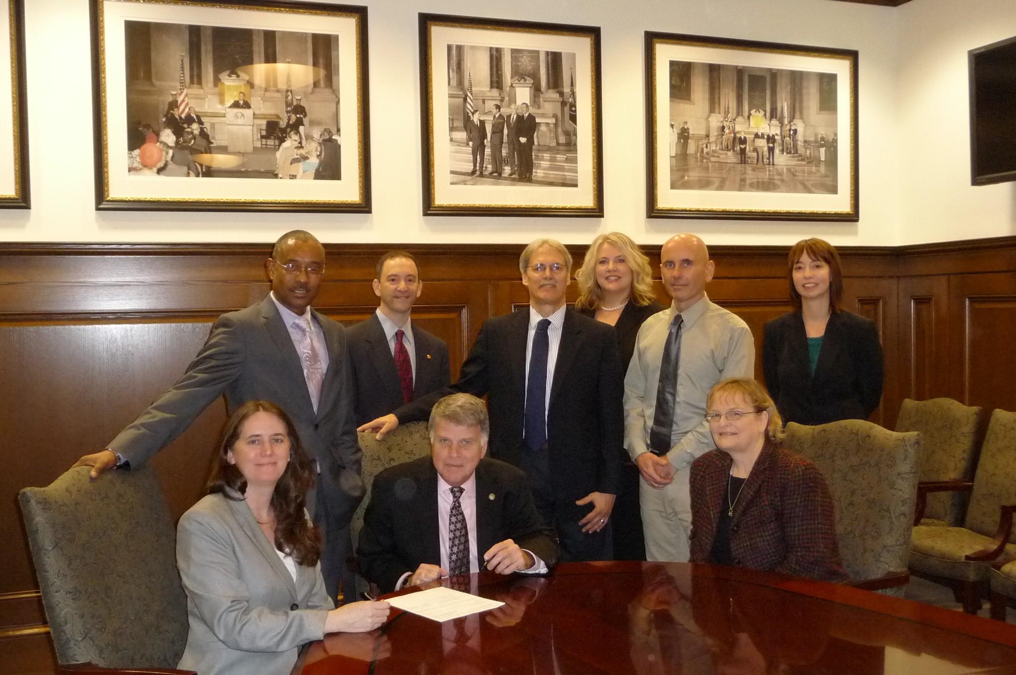 Photo of USPTO staff and NARA staff, November 16, 2011